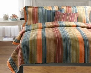 Greenland Home Fashions San Marino Collection Katy Multi Color Queen Set, 3-Piece