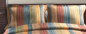 Greenland Home Fashions San Marino Collection Katy Multi Color Standard Sham