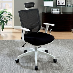 Sargas Contemporary Office Chair, Black & White Finish