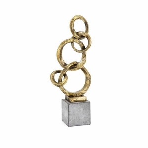 Sarovar Small Ring Statuary, Gold - Benzara