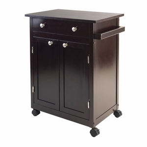 Winsome Wood Savannah Kitchen Cart with Elegant and Classy Finesse