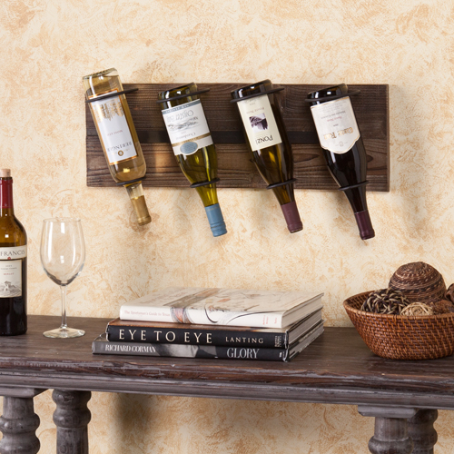 Buy Saxon Wall Mount Wine Storage Weathered Oak By