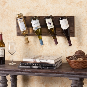 Saxon Wall Mount Wine Storage - Weathered Oak by Southern Enterprises