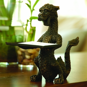 Scaly Asian Dragon Cast Iron Card Holder by SPI-HOME