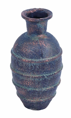 Scratch Resistant Ceramic Vase with Antique Charm & Earthy Colors  - 50513 by Benzara