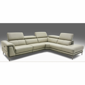 Sectional Sofa Real Leather 1 power Recliner-2 PC