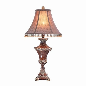 Selma Donna Table Lamp, Set Of 2, Beige And Gold