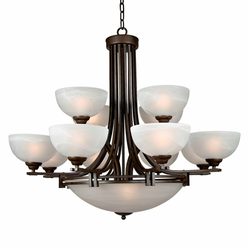 Buy Sequoia Collection Adorably Styled 13 Light Chandelier In Dark Brown By Yosemite Home Decor