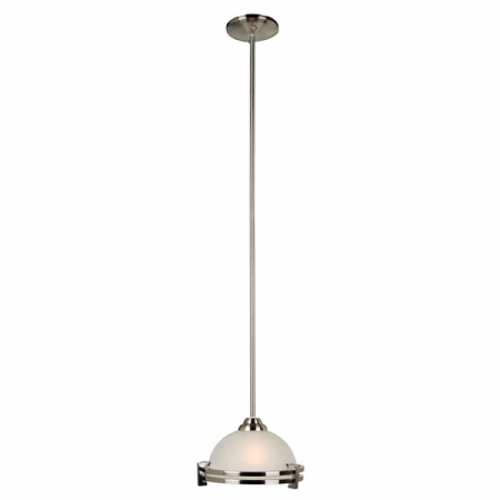 Buy Sequoia Collection Chic Looking 1 Light Mini Pendant In Satin Nickel Finish By Yosemite Home