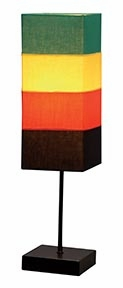 """Set/2 Rainbow Tall Metal Table Lamps 21"""" With Shade  by Benzara"""