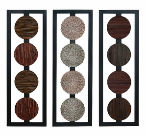 Wood Wall Panel 3 Assorted Anytime Wall Decor Refresh - 68212 by Benzara