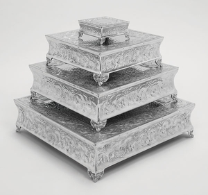 Aluminum Cake Stand Set Of 4 A Dining Area Specificdecor - 15948 by Benzara