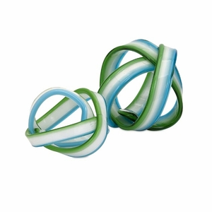 Set of 2 Chic Cambria Glass Knot by IMAX