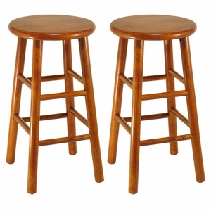 """Set of 2 Fascinating Customary Styled Beveled 24"""" Seat Stool by Winsome Woods"""