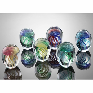 Set of Six AG Mini Jellyfish in Six Colors by SPI-HOME