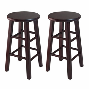 "Winsome Woods Wooden Stylish 24"" Counter Stools (Set of 2)"