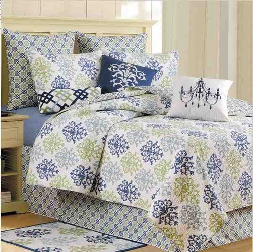 buy shabby chic blue king size quilt handmade 108 inch x 92 inch at wildorchidquilts net. Black Bedroom Furniture Sets. Home Design Ideas