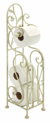 Metal Toilet Paper Holder 24 Inches High - 63148 by Benzara