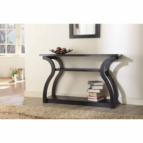 Buy sheena black curved side panel sofa table at for Wild orchid furniture