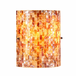 """Shelley, Mosaic 1 Light Wall Sconce 8.5"""" Wide"""