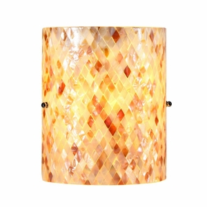 """Shelley, Mosaic Light Wall Sconce 8.5"""" Wide"""