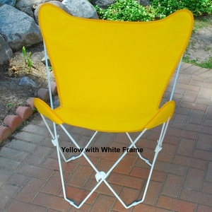 Shimmering Sun Gold Fabric Butterfly Foldable Chair by Algoma