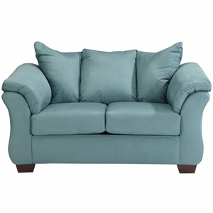 Signature Design by Ashley Darcy Loveseat in Sky Microfiber [FSD-1109LS-SKY-GG]