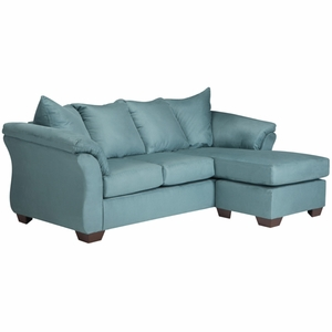 Signature Design by Ashley Darcy Sofa Chaise in Sky Microfiber [FSD-1109SOFCH-SKY-GG]