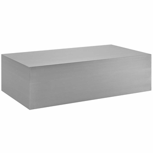 Silver Cast Stainless Steel Coffee Table