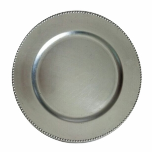 The Urban Port Silver Charger Plate Set of 24