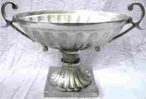 Simple And Elegant Aluminum Bowl Suitable For Variousdecor - 27453 by Benzara