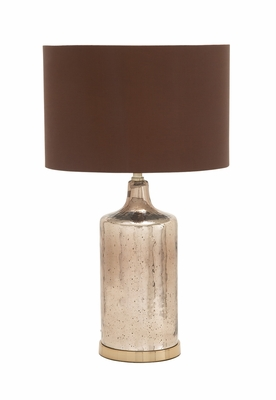 Simply Exquisite Glass Metal Table Lamp - 40193 by Benzara