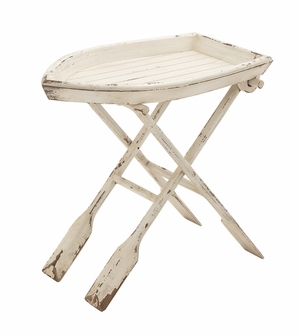 Simply Ingenious Wood Folding Table - 20439 by Benzara