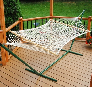 Single size 11' Deluxe Polyester Rope Hammock by Algoma