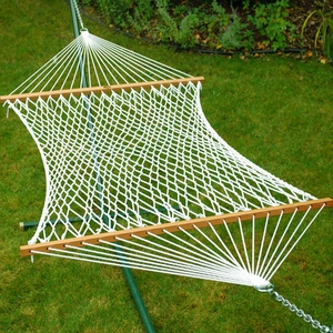 Single size 13' Deluxe Polyester Rope Hammock by Algoma