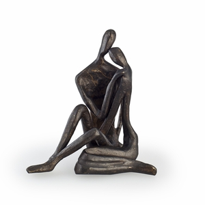 Small Couple Embracing Cast Bronze by Danya B