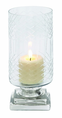 Smart Styled Opaque Designed Glass Candle Holder - 28865 by Benzara