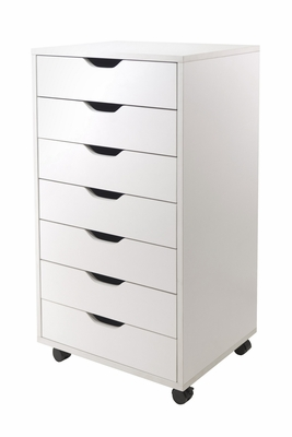 Smart Stylized Halifax Cabinet for Closet / Office, 7 Drawers by Winsome Woods