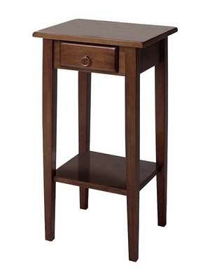 Winsome Woods Smart Wooden Regalia Accent Table with Drawer and Shelf