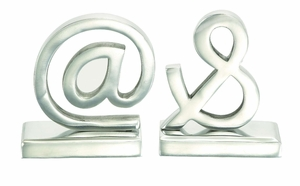 Aluminum Bookend Pair A Class Apart Homedecoration - 30677 by Benzara