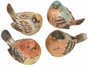 POLYSTONE BIRD SET OF 4 REAL LIKE BEAUTIFUL BIRDS - 98259 by Benzara