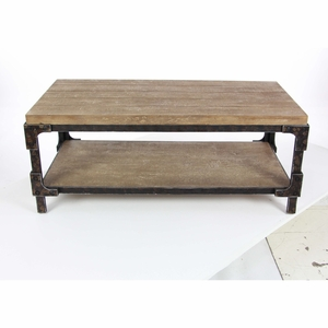 Solid Wood Coffee Table - 85999 by Benzara