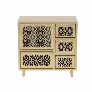 Sophia Gold Color Jewelry Chest - 82180 by Benzara