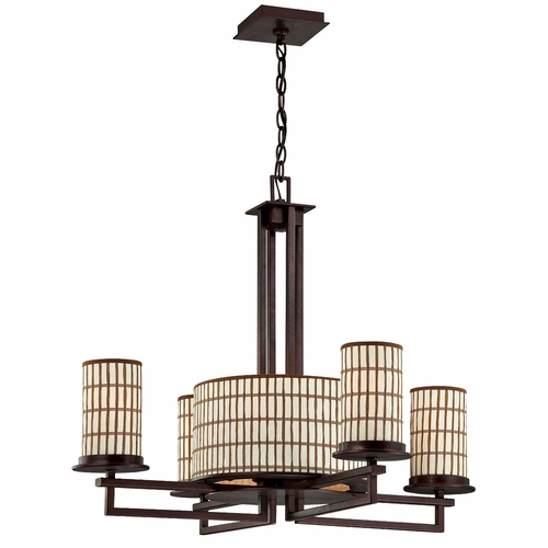 Buy Sorrel Collection Attractive Styled 5 Lights Chandelier In Opaque Bronze By Yosemite Home Decor