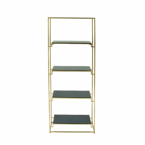 buy spacious metal glass bookshelf at. Black Bedroom Furniture Sets. Home Design Ideas