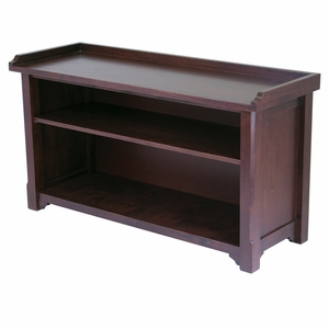 Spacious & Sturdy Milan Bench with Storage Shelf by Winsome Woods