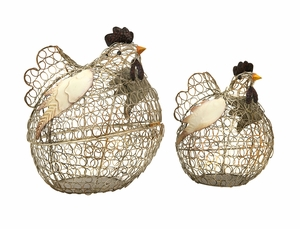 Spectacular Elmore Wire Chickens - Set of 2