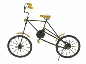 Spectacularly Designed Metal Wood Cycle - 24363 by Benzara