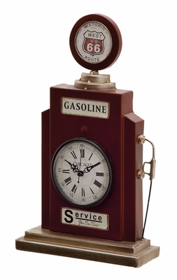 52130 Splendid Metal Table Clock - 52130 by Benzara