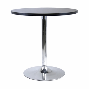 "Splendid & Spacious Spectrum 29"" Round Dining Table with Metal Leg by Winsome Woods"